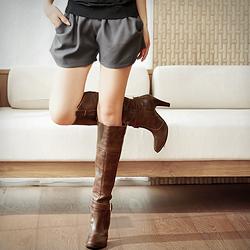 【la PURE】好感女孩澎澎打摺口袋短褲 (共5色)
