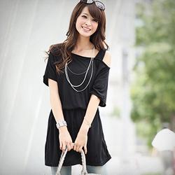 【衣芙日系】曖昧滋味單肩顯瘦彈性腰洋裝 (共3色)