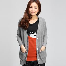 【衣芙日系】柔美雅緻V領口袋針織外套(共2色)原價499