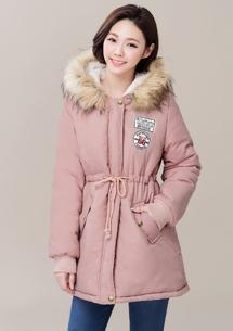 暖感蓬厚毛領舖棉外套